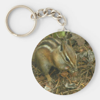 Chipmunk with tongue hanging out keychains