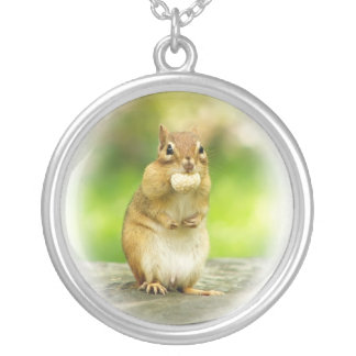 Chipmunk with Treat Necklace