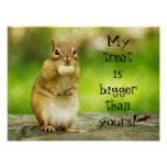 Chipmunk with Treat Poster