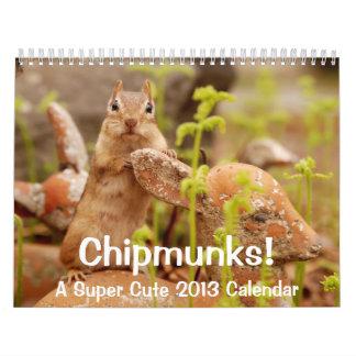 Chipmunks! A Super Cute 2013 Wall Calendar