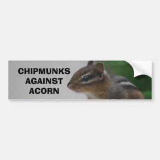 Chipmunks Against Acorn Bumper Sticker Car Bumper Sticker