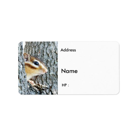 Chipmunks and Squirrels , Label