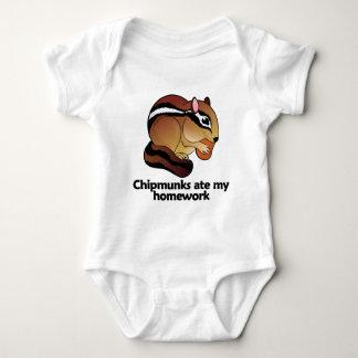 Chipmunks ate my homework baby bodysuit