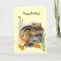 Chipmunk's Birthday Card