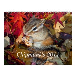 chipmunk's calendar (All countries) no.1