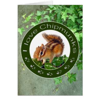 chipmunks card