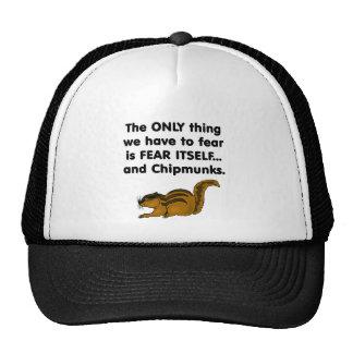 Chipmunks del miedo sí mismo gorros