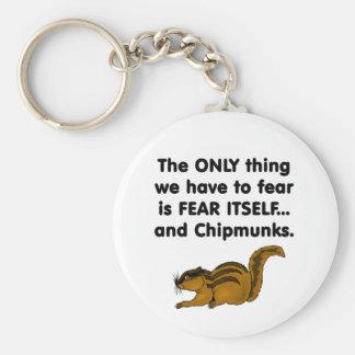 Chipmunks del miedo sí mismo llavero redondo tipo pin