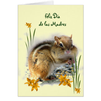 Chipmunk's Dia de las Madres Greeting Card