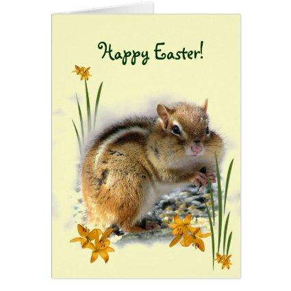 Chipmunk's Easter Greeting Card