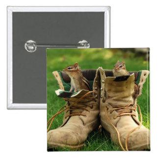 Chipmunks en botas pin cuadrada 5 cm