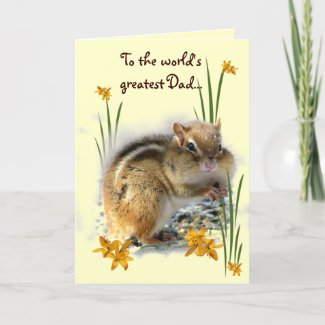 Chipmunk's Father's Day Greeting Card