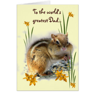 Chipmunks Fathers Day Greeting Card