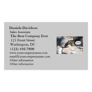 Chipmunks Juicy Gossip Business Card Templates