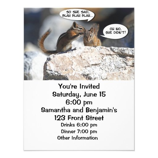 Chipmunks Juicy Gossip Personalized Invites