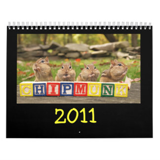 Chipmunks lindos locos 2011 calendario de pared