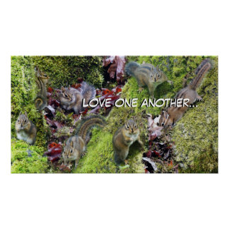 Chipmunks Love One Another Christian Poster
