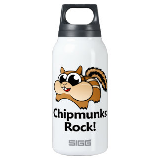 Chipmunks Rock! Insulated Water Bottle
