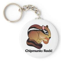Chipmunks Rock! Keychain