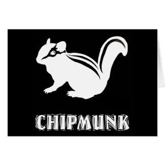 chipmunk's silhouette (black) card
