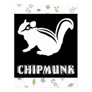 chipmunk's silhouette (black) postcard