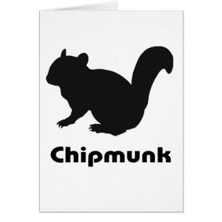 chipmunk's silhouette (Black) type2 Card