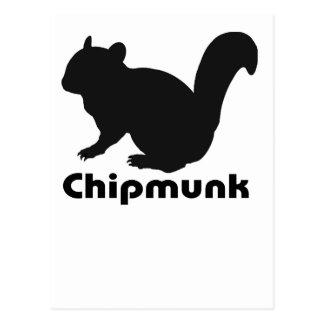 chipmunk's silhouette (Black) type2 Postcard
