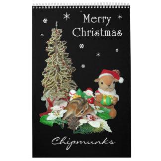 Chipmunks (squirrel) , Calendar