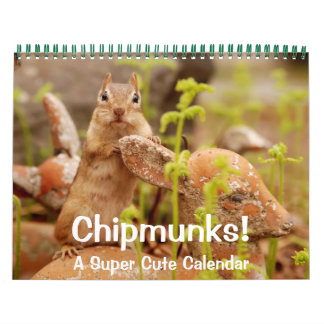 ¡Chipmunks! Un calendario de pared lindo estupendo