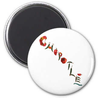 Chipotle Chili Peppers 2 Inch Round Magnet