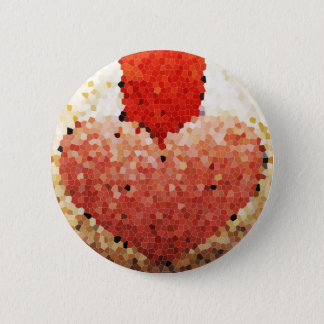 """Chipped Heart"" - Button"