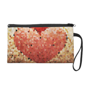 """Chipped Heart"" - Wristlet"