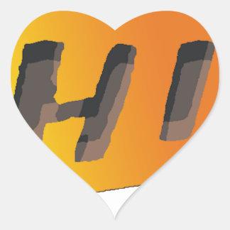 CHIPPED (in #CAMERicA) Heart Sticker
