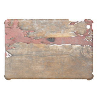 Chipped Paint Coral Wood Plank Texture iPad Case