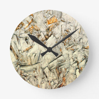Chipped Paint on Wood Wall Clock