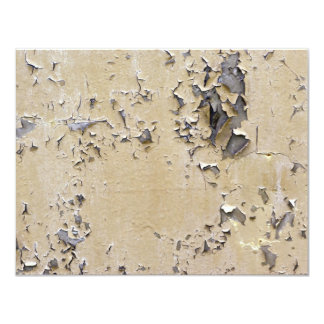 Chipped Painted Metal Textured Card