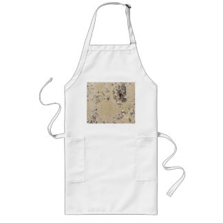 Chipped Painted Metal Textured Long Apron