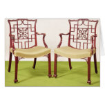 Chippendale mahogany dining chairs card