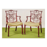 Chippendale mahogany dining chairs poster