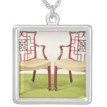 Chippendale mahogany dining chairs square pendant necklace