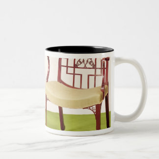 Chippendale mahogany dining chairs Two-Tone coffee mug