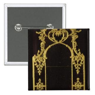 Chippendale mirror, c.1750 pinback button