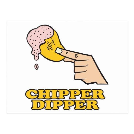 chipper dipper chip dip postcard