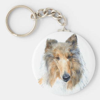 Chipper the Collie Keychain