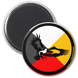 Chippewa Dodem Giniw 2 Inch Round Magnet