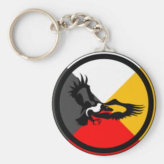 Chippewa Dodem Giniw Basic Round Button Keychain