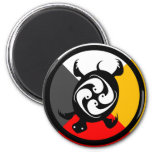 Chippewa Dodem Miskwaadesi 2 Inch Round Magnet