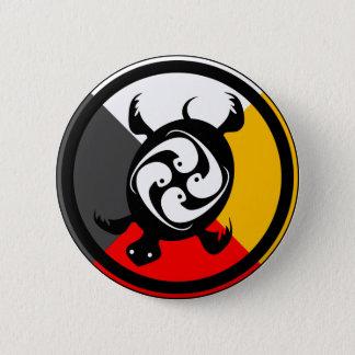 Chippewa Dodem Miskwaadesi Button