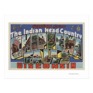 Chippewa Falls, South Dakota - Large Letter Postcard