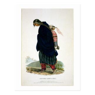 Chippeway Squaw and Child, pub. by F.O.W. Greenoug Postcard